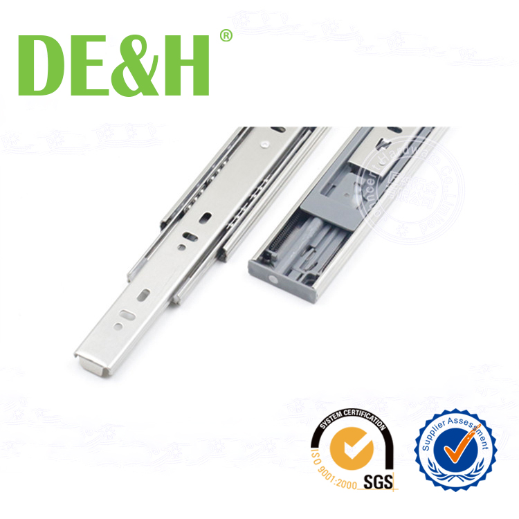 45mm Stainless steel 304 teflon drawer slides with damping